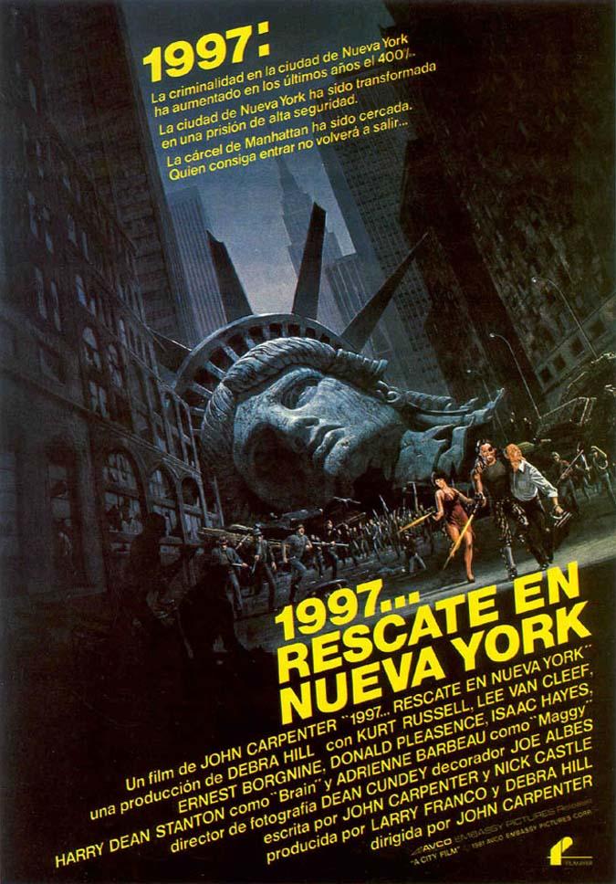 """""""1997: rescate en Nueva York"""" (1981). Fuente: www.miscelaneapasarratos.blogspot.com"""