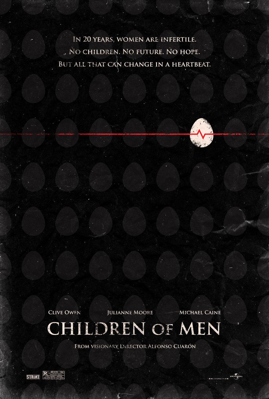 """Hijos de los hombres"" (2006). Poster alternativo de Adam Rabalais. Fuente: www.adamrabalais.deviantart.com"