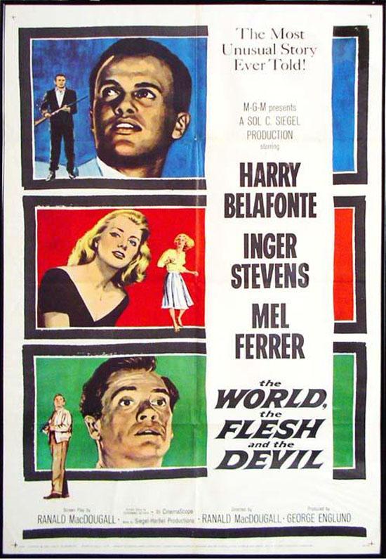 """""""El mundo, la carne y el diablo"""" (1959). Fuente: www.filmaffinity.com"""
