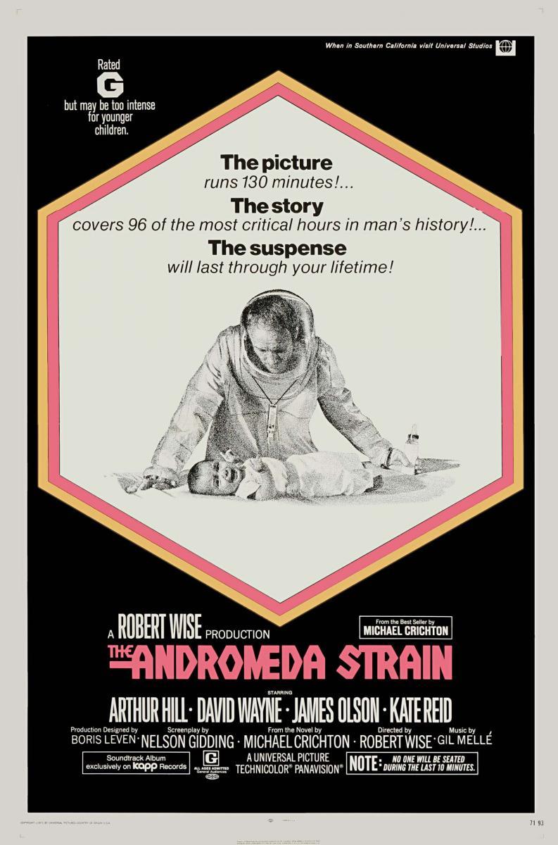 """""""La amenaza de Andrómeda"""". Fuente: www.filmaffinity.com"""