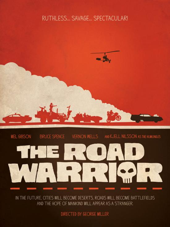 """""""Mad Max 2"""" (1981). Poster alternativo. Fuente: www.tumblr.com"""