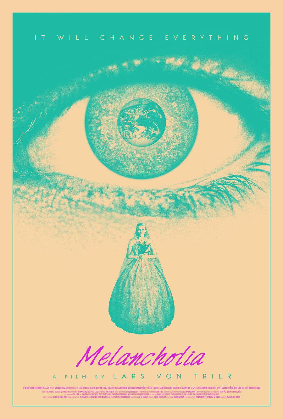 """Melancolía"" (2011). Poster alternativo. Fuente: www.thefilmexperience.net"