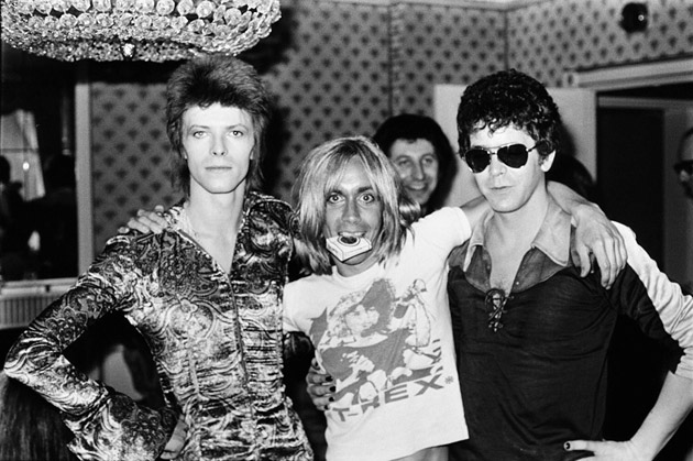David Bowie, Iggy Pop y Lou Reed. Fuente: www.fosforescente.cl