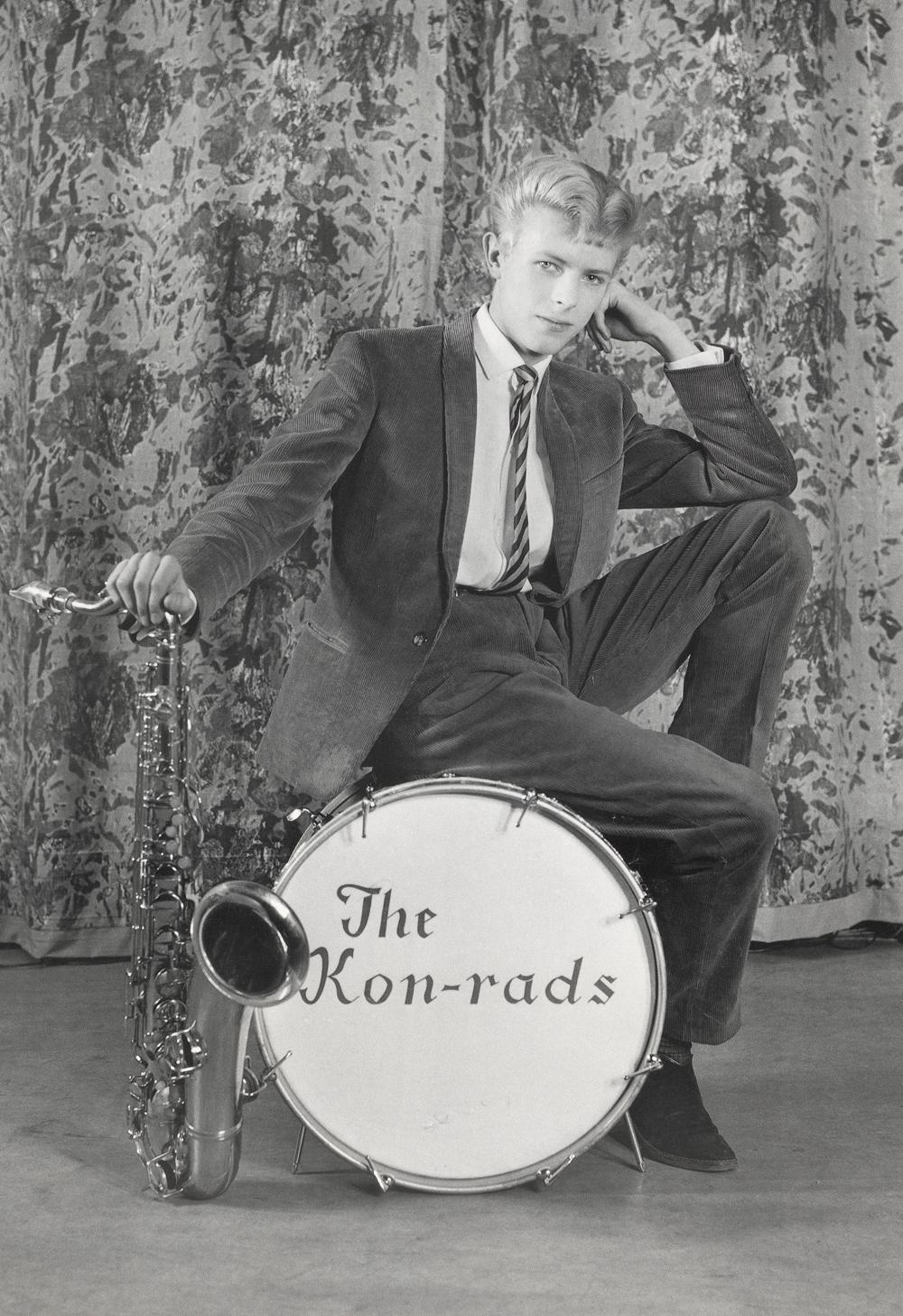 David Bowie en The Kon-Rads, en 1963. Fuente: theyouthquake.com