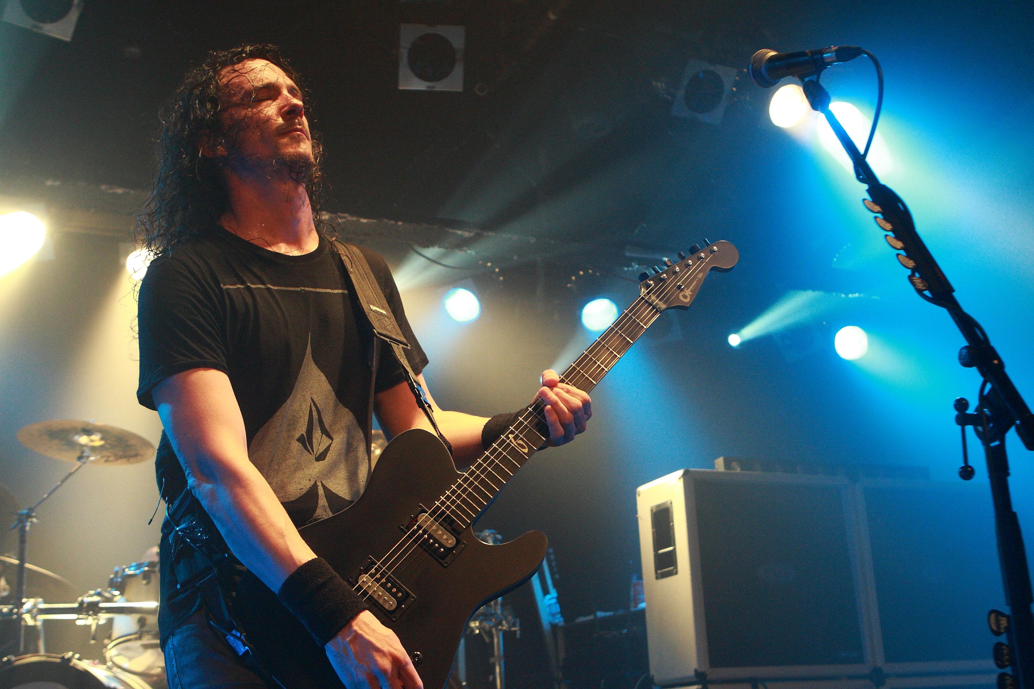 Joe Duplantier, cantante y guitarra de Gojira. Foto: Eduard Tuset