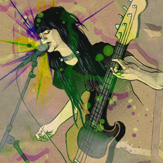 Ilustración del concierto de Royal Thunder. Autor: Andreu Zaragoza (http://andreu-zaragoza.com/)