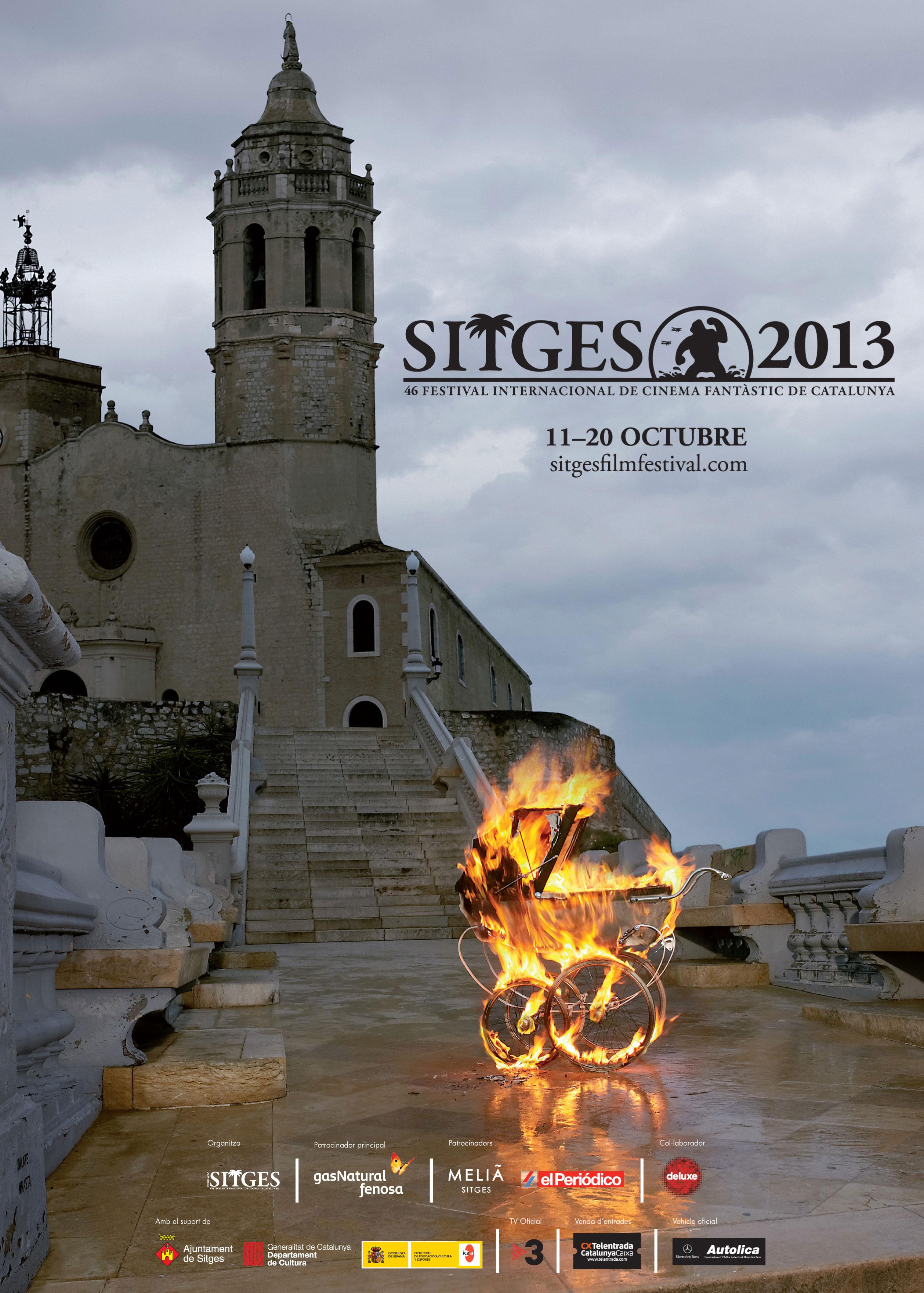 """Cartel del Festival de Cine Fantástico de Sitges 2013, inspirado en """"La semilla del diablo"""" de Roman Polanski. Fuente: Festival de Sitges."""