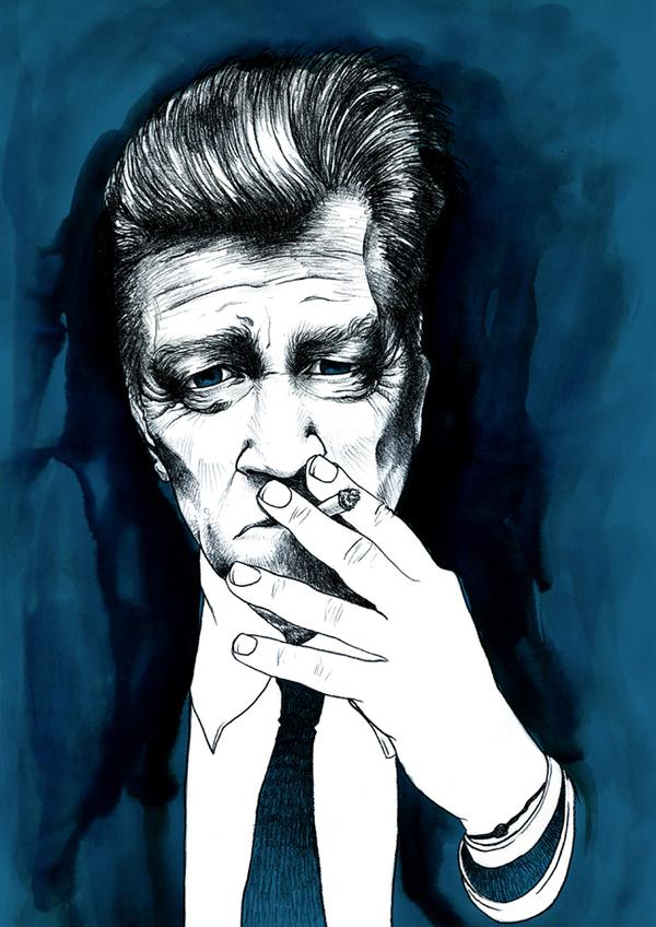 Retrato de David Lynch realizado por Andreu Zaragoza
