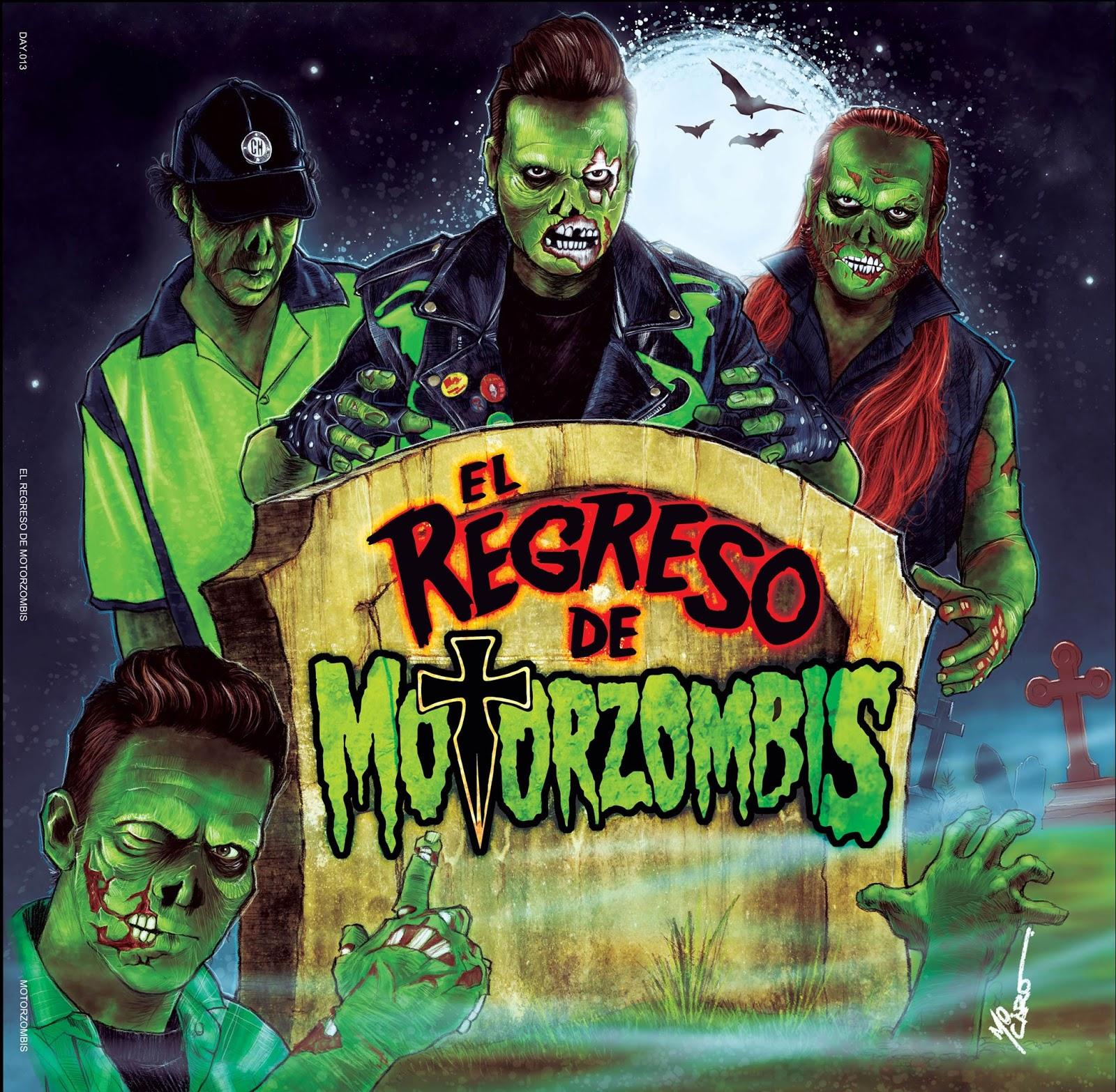"""Portada del segundo LP de la banda, """"El Regreso de Motorzombis""""."""