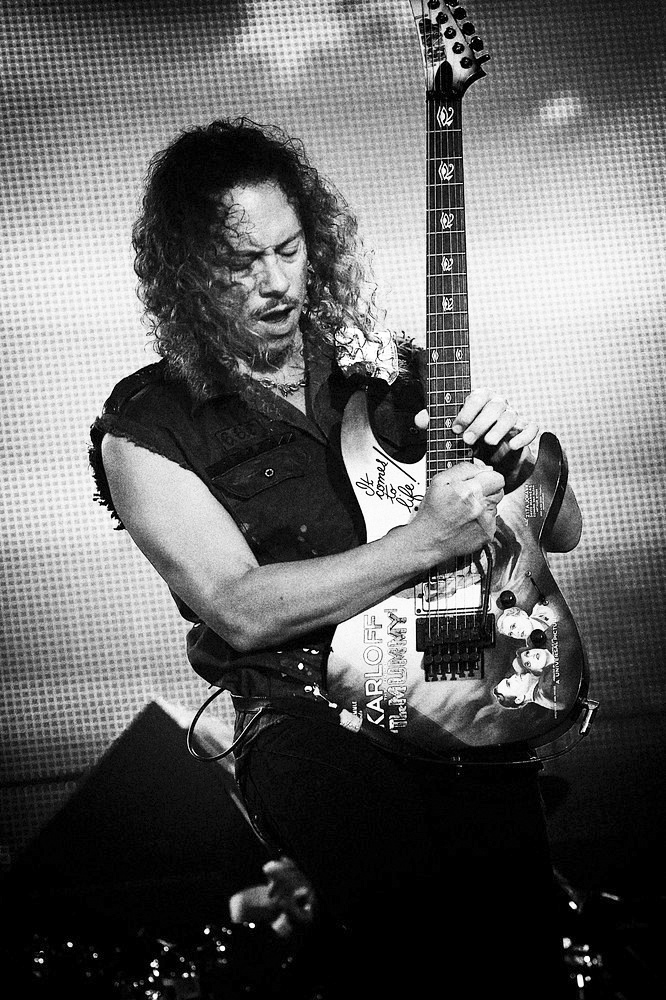 Kirk Hammet, en pleno éxtasis. Fuente: www.pinterest.com