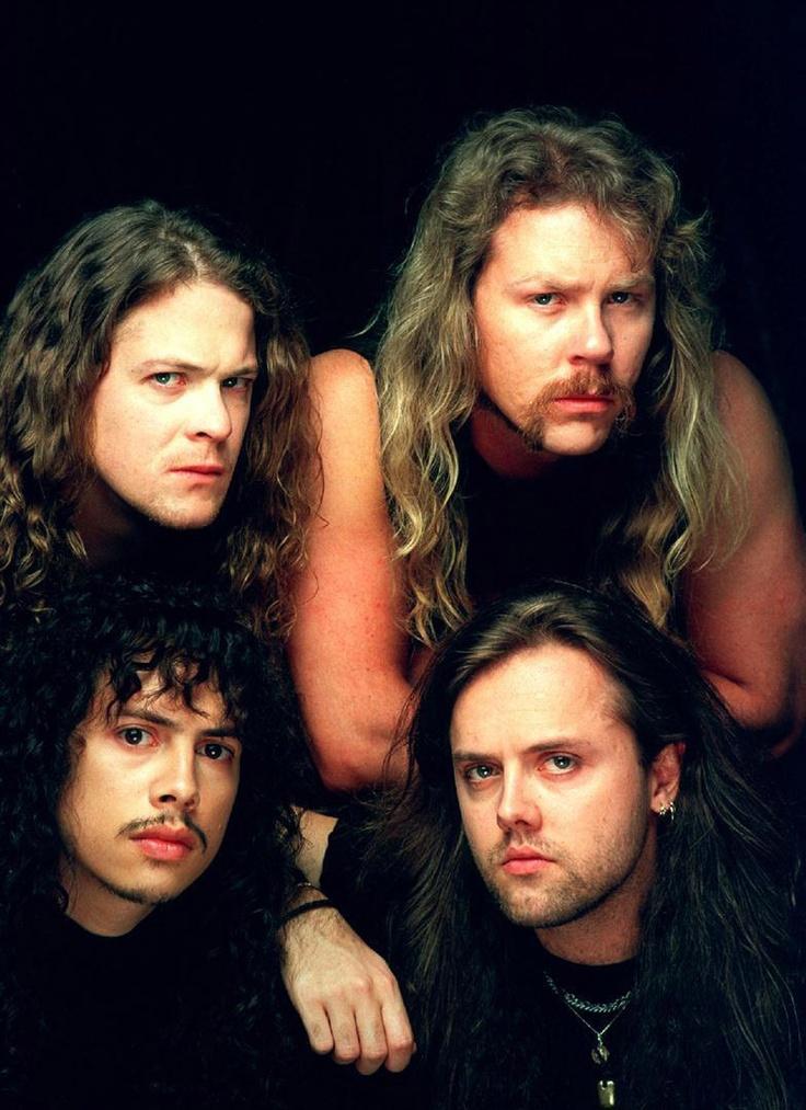 "Metallica, en una imagen promocional del ""Black Album"". Fuente: www.pinterest.com"