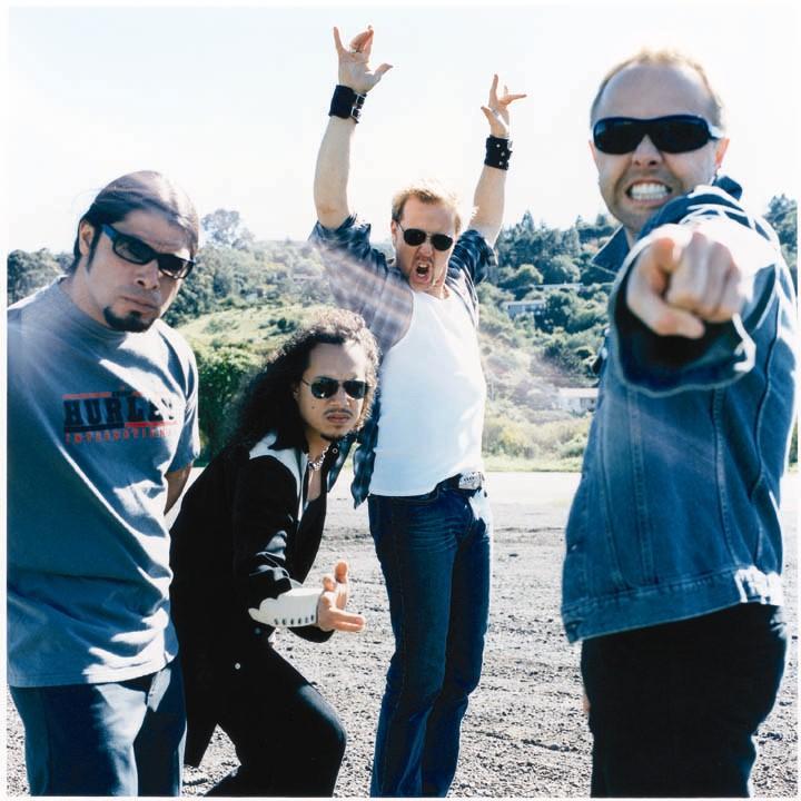 "Metallica en una imagen promocional de ""St. Anger"". Fuente: www.rockpool.com"