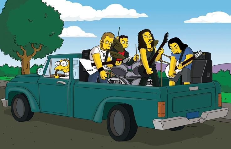 Metallica hacen una aparición estelar en Los Simpsons. Fuente: