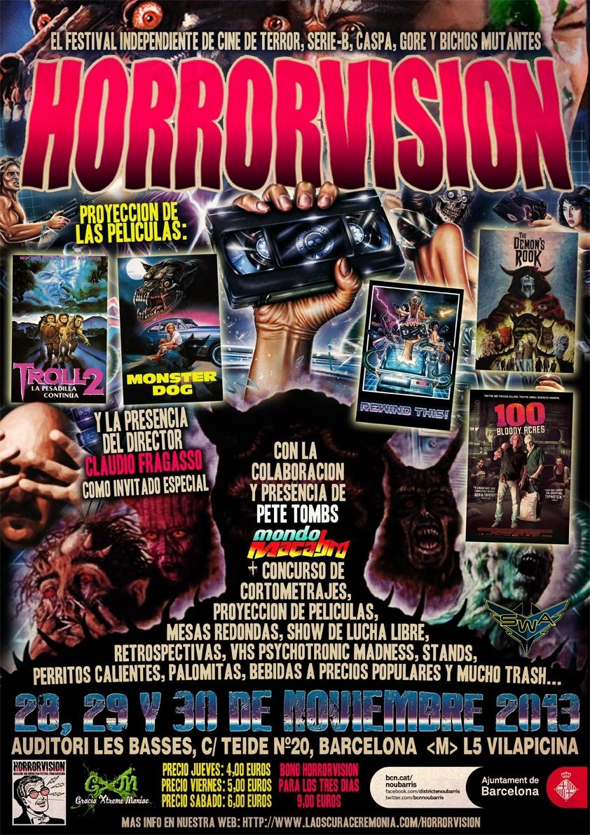 Cartel del Festival Horrorvision 2013