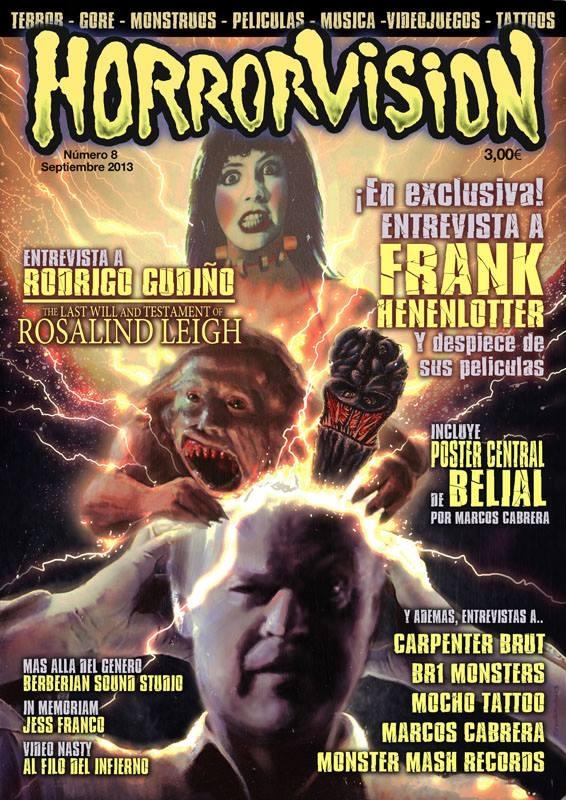 Portada del número 8 de Horrorvision