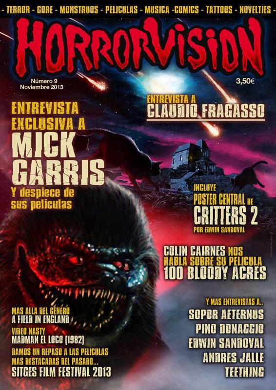 Portada del número 9 de la revista Horrorvision.