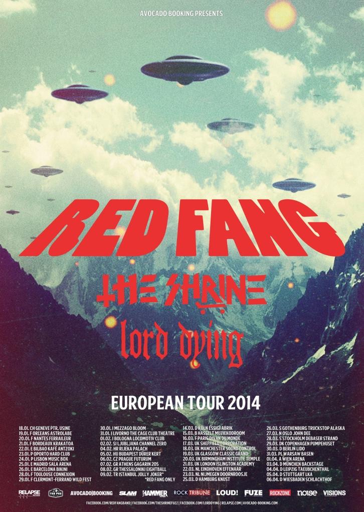Red Fang. Poster gira 2014