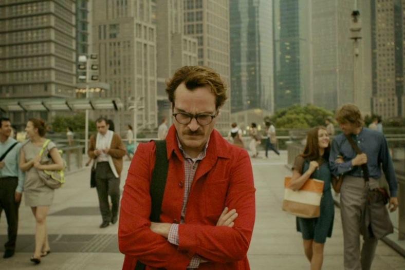 """""""Her"""": Joaquin Phoenix triste. Fuente: www.cinemaandpopcorn.blogspot.com"""